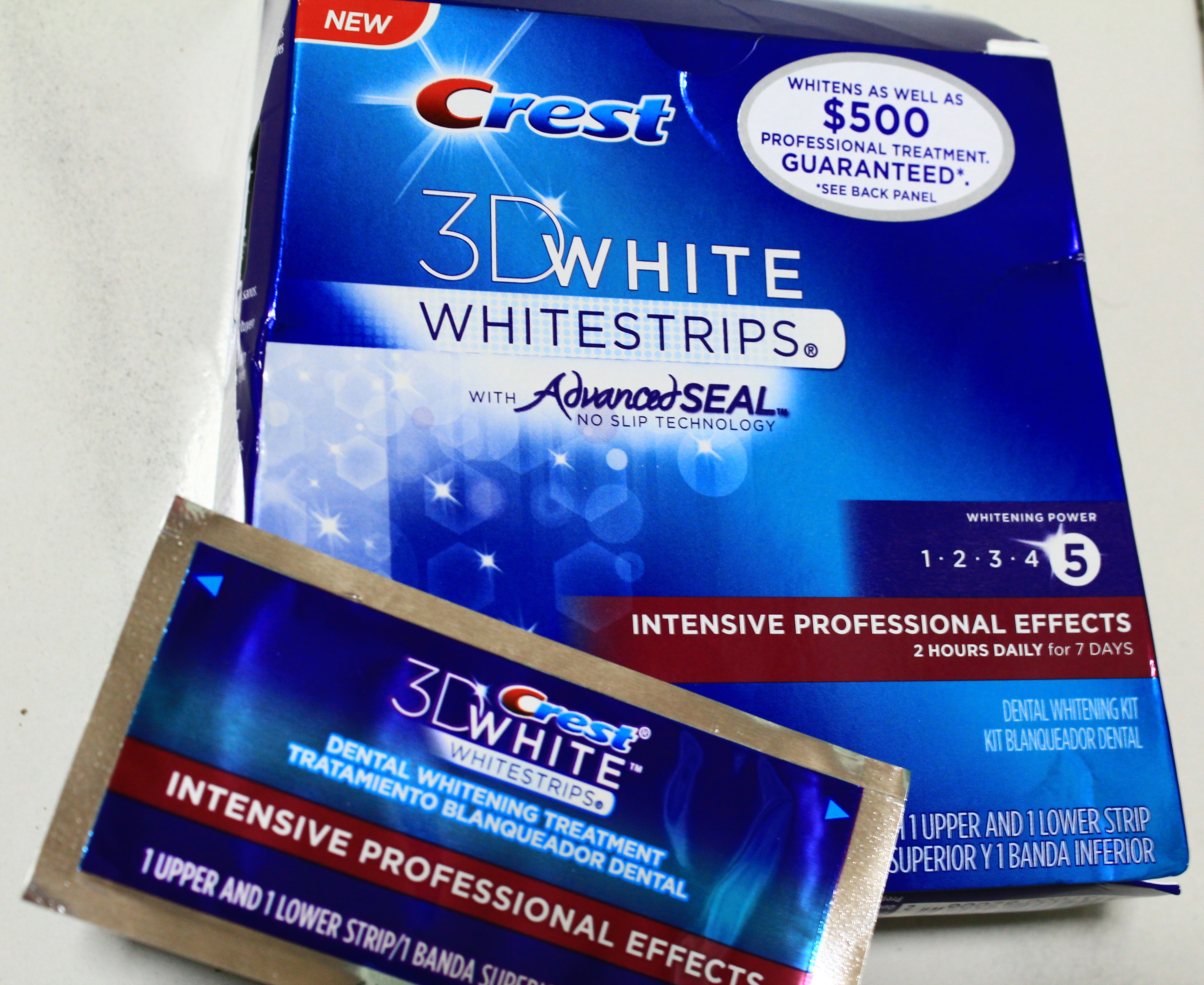 Crest 3D White strips Intensive Professional Effects | Fizzyfiiz's Haven
